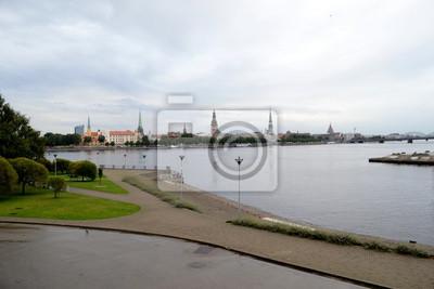 Fototapete Riga Stadtpanorama