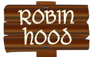 Robin Hood Old Wooden Sign