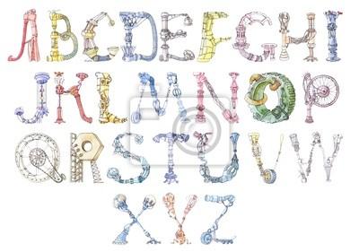 Roboter Alphabet