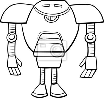Roboter cartoon malvorlagen fototapete • fototapeten Droiden, ai ...