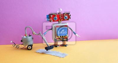 Fußboden Roboter ~ Roboter staubsaugermaschine roter hauptcyborg roboterspielzeug