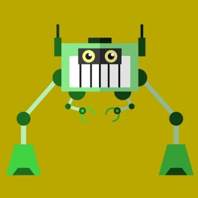 Roboterabbildung 02 flache Designansicht
