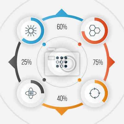 Robotik icons set. sammlung von informationen komponenten, computing ...