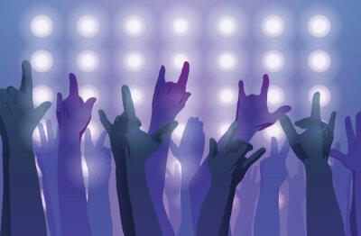 Fototapete Rock Konzert. Hände hoch.