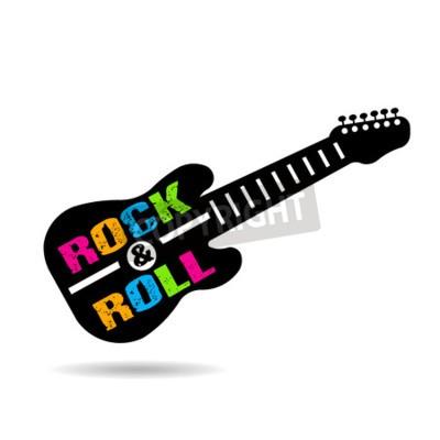 Fototapete Rock und Roll Gitarre