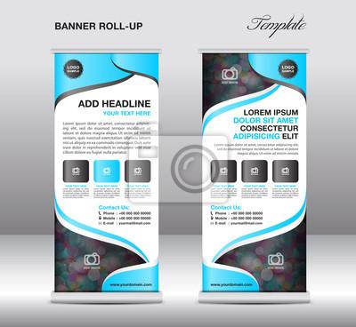 Roll up banner stand template, banner vorlage, anzeige, fliege ...