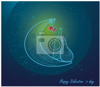 Romantic Valentine-Karte mit Liebe.