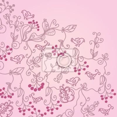 Romantische Gruß valentine floral background
