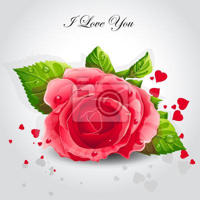 Romantische Hintergrund für rote Rosen.