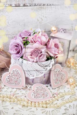 Romantische Liebe Dekoration Im Shabby Chic Stil Fur Hochzeit