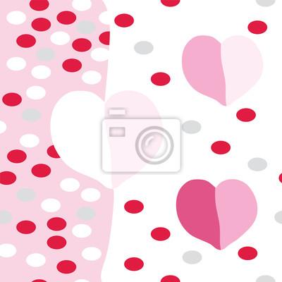 Romantische nahtlose Muster mit rosa Herzen