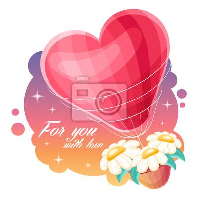 Romantische Valentinstag Hintergrund mit einem herzförmigen heißen ai