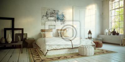 Romantisches schlafzimmer in altem loft - romantisches schlafzimmer ...