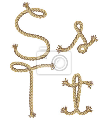 Rope Alphabet. Vektor-Illustration