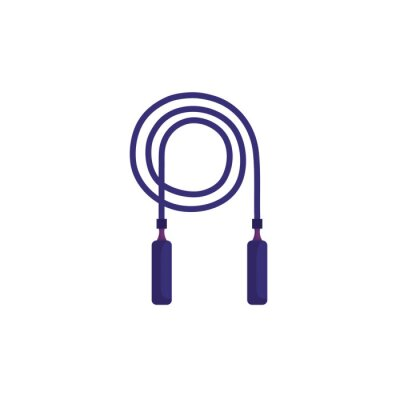 rope jump equipment isolated icon vector illustration design
