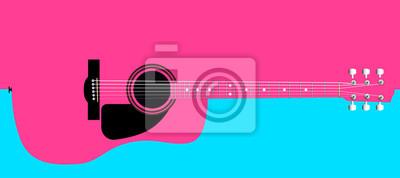 Rosa Akustikgitarre Hintergrund