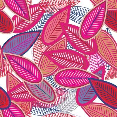 Fototapete rosa Blätter