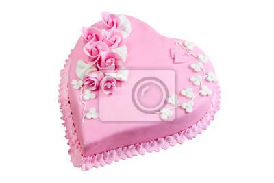 Rosa Kuchen Herzen Fototapete Fototapeten Fondant Geburtstage