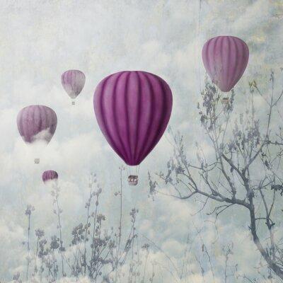 Fototapete Rosa Luftballons