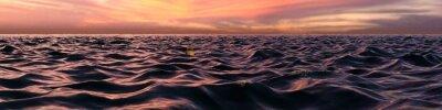 Fototapete Rosa Sonnenuntergang Panorama über Ozean Wellen