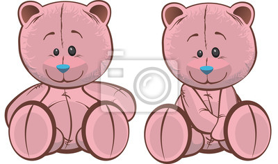 Fototapete Rosa Teddy Bears