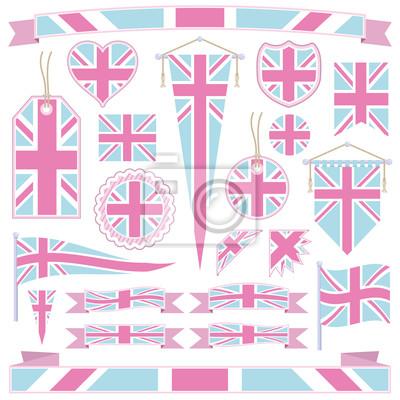 rosa und blau Großbritannien