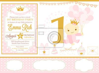 Rosa Und Gold Prinzessin Party Dekor Nette Alles Gute Zum