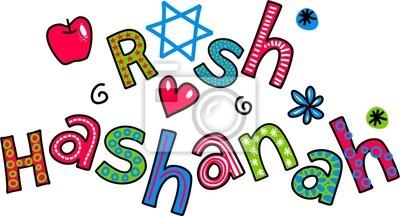 Rosch Haschana jüdischen Neujahrs Cartoon Doodle Text
