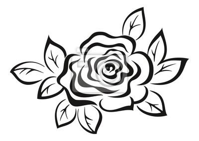 Rose Flower Black Pictogram Fototapete Fototapeten Fluoreszenz
