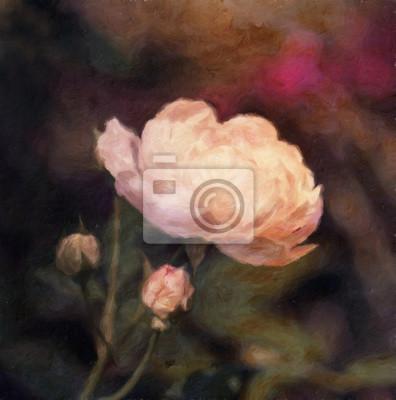 Rose / Ölgemälde-Fotoeffekt