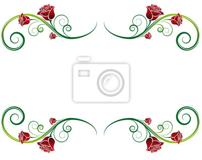 Rosen Ornamente Fur Schreibwaren Valentinstag Einladung Hochzeit