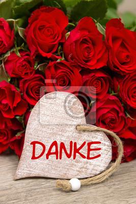 Fototapete Rose mit Herz