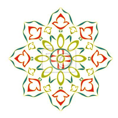 Rosette dekorativen Zierblumen