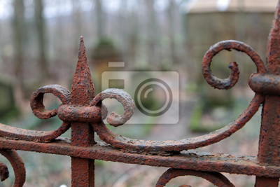 Rostiger Zaun Fototapete Fototapeten Gothic Friedhof Verrostet