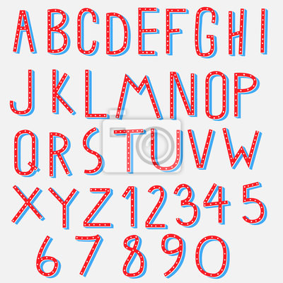 rot, blau, Alphabet