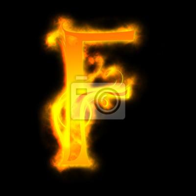 rot brennenden Buchstaben, F