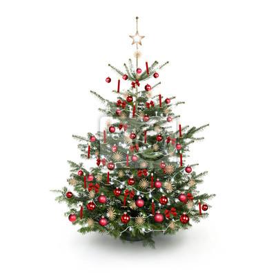 Weihnachtsbaum Rot.Fototapete Rot Geschmückter Weihnachtsbaum
