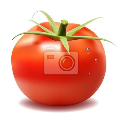 Rot große frische Tomaten isoliert auf weißem Hintergrund.