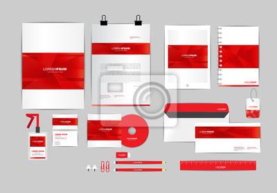 Corporate Design Vorlage | Rot Und Weiss Corporate Identity Vorlage Fur Ihr Unternehmen Umfasst