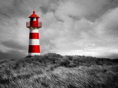 Fototapete Rot-Weißer Leuchtturm