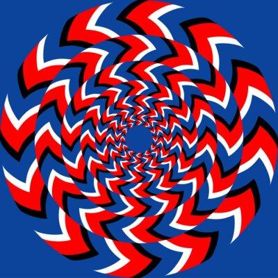 Fototapete Rotation-Effekt mit optischer Illusion Wirkung