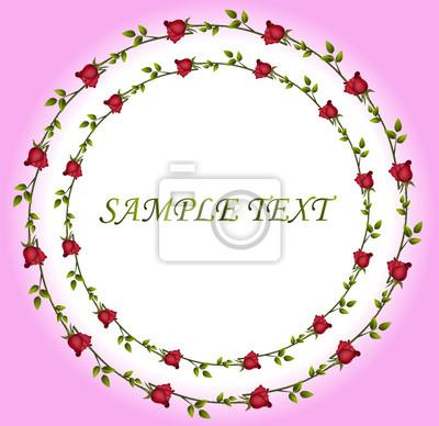 Rote Blume auf rosa Hintergrund