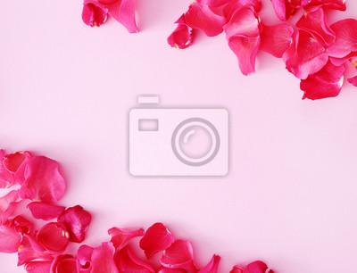 Fototapete Rote Blütenblätter