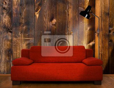 Rote Couch Fototapete Fototapeten Alm Möblierung Planke