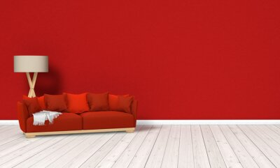Rote Couch Raum Fototapete Fototapeten Laminat Lounge Couch