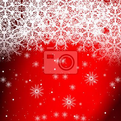 Rote Weihnachtskarten.Fototapete Rote Farbe Hintergrund Mit Schneeflocken Für Weihnachtskarten