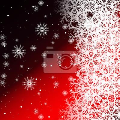 Rote Farbe Hintergrund Mit Schneeflocken Fur Weihnachtskarten