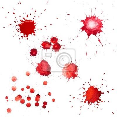 Rote Flecken von Aquarell malen