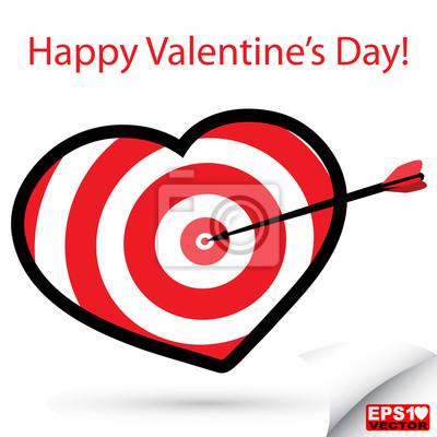 Rote Herzen Zielvektor