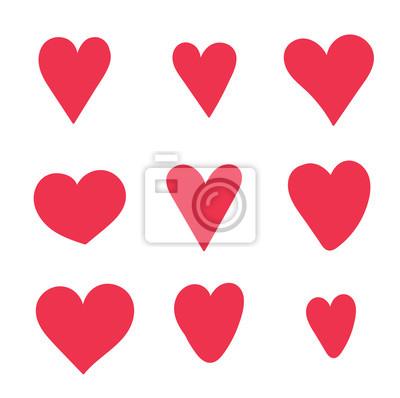 Rote süße herzen für valentinstag karten fototapete • fototapeten ...